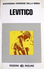 LEVITICO A CURA DI SOFIA CAVALLETTI EDIZIONI PAOLINE 1984