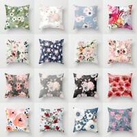 18'' Polyester Rose Flower throw pillows sofa car waist cushion cover Home Decor