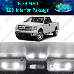 White LED Lights Interior Package License Plate Lights for 2009 - 2014 Ford F150