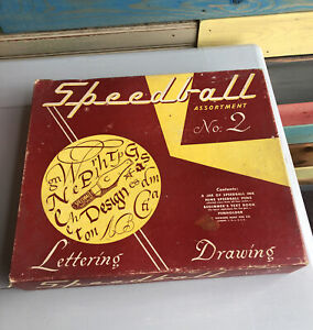 Speedball No.2 Ink Lettering Drawing Caligraphy Set