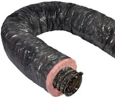 Mobile Home Insulated Flexible Duct Heating Ac HVAC 12 In 25 Ft Black Jacket