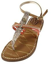 805902d6f302 NEW LADIES Sam   Libby Kamilla SANDALS Thong Flats SNAKE SKIN CORAL Size ...