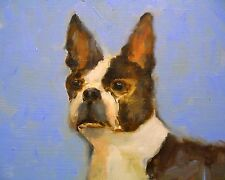 Boston Terrier print from an original oil painting