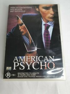 American Psycho (DVD) Horror Christian Bale Rare PAL Region 4 Free Postage