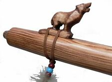 Authentic Native American WOLF Flute handmade by Jonah Thompson in key of A