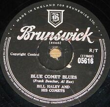 BILL HALEY COMETS ~ BLUE COMET BLUES b/w RUDY'S ROCK ~ 78 RPM E EXCELLENT GRADE