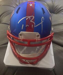Tom Brady Autographed New England Patriots Super Bowl LIIII Mini Helmet W/COA
