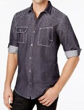 Men's INC International Concepts Chambray Jacquard Long Sleeve Shirt, Size: M