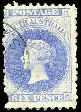 South Australia Scott 32a Used 1867 Queen Victoria Stamp With Aps Certificate