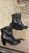 bottes bottines noires pointure 39 occasion bon etat GRACELAND
