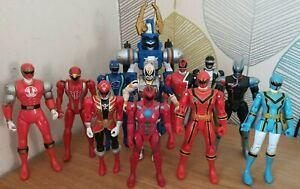 "Power Rangers Various Teams 6"" Ranger Action Figures x12"