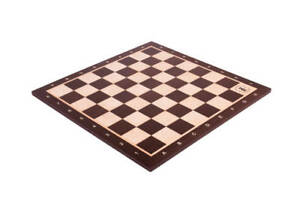 """African Palisander & Maple Wooden Chess Board - 2.5"""" With Notation & Logo"""