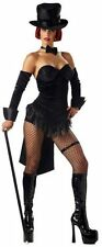 Sexy Ring Master Circus Carnival Adult Costume Magician Cabaret Burlesque Large