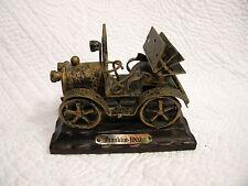 Franklin 1907 Tainted Black & Bronze Antique Car on Wooden Base, EXCELLENT