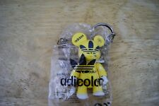 Adidas adicolor Toy2r Qee YELLOW figure key chain bearbrick FREE SHIPPING SEALED
