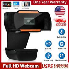 HD Webcam Auto Focusing Web Camera 720P Cam Microphone For PC Laptop Desktop US