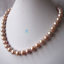 """18"""" 9-11mm Lavender Kasumi AA Freshwater Pearl Necklace"""