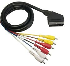 Cable Euroconector SCART a 6 RCA Salida Video TDT Analogico Video Audio