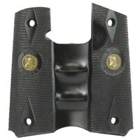 Pachmayr Signature Grip Fits Colt 1911 with Finger Grooves Black  05008