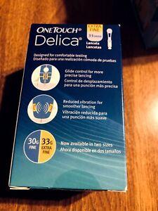 OneTouch Delica Lancets 100 Ct 33 Gauge exp 01/2023