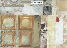 Surtido de papeles de respaldo 6 X 6 paquete de muestra notas Vintage 1 Hoja De Cada Diseño