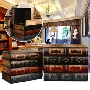 European Style Retro Fake Simulation Books Storage Box Elegant Ornament Office.