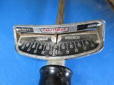 """Craftsman 1/2"""" Drive 100 Foot lb beam style torque wrench Model 4448 Made In USA"""