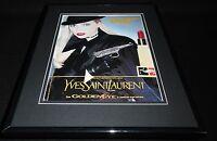 Yves Saint Laurent 1995 Goldeneye J Bond 11x14 Framed ORIGINAL Advertisement