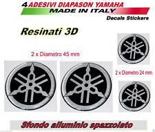 4 Adesivi in resina 3d Yamaha Tmax diapason per carene e serbatoio moto