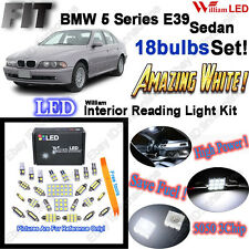 18 Bulbs Xenon White LED Interior Light Kit For BMW 5 Series E39 Error Free
