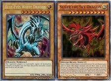 Yugioh Slifer the Sky Dragon (Ultra Rare) + Blue-Eyes White Dragon (Secret Rare)