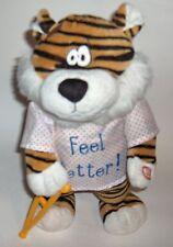 Feel Better Cat -the petting zoo -singing get well [lush -I feel good! w/crutch