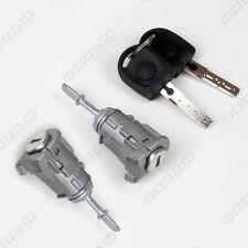 Vw Golf Mk4 Cerradura De Puerta Set + 2 Llaves + 2 Barril Delantero Izquierda Y Derecha * Nuevo *
