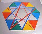 Israeli artist Yaacov Agam signed Ltd Ed#227/250 Star of David serigraphINV2570