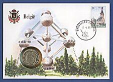 Numisbrief UN Belgien Belgie Atomium 10 Francs 1973 Stempel 1985 NB-A16/20
