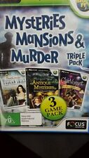 Mysteries Mansions & Murder TRIPLE PACK PC GAME