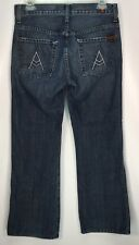 7 Seven for All Mankind 'A' Pocket Bootcut Blue Jeans Size 29 - W 30 x L 29