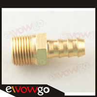 "Male Brass Hose Barbs Barb 8mm To 3/8"" NPT Pipe Male Thread"