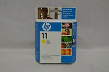 Lot of 2 HP No. 11 Yellow Ink Cartridge in Box 28ml Expired