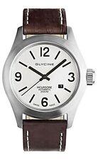 Glycine Men's Watch Incursore Brown Leather Strap Swiss Automatic 3874.11 LB7BF
