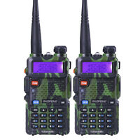 USA Stock 2x BaoFeng UV-5R Ham Walkie Talkie 128CH UV5R Dual Band Two Way Radio