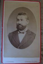Photographie ancienne Portrait homme CDV photographe Ehrhard Château-Thierry