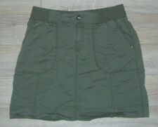 Lord & Taylor Army Green Olive Cargo Skirt W/ Pockets Military Style Sz 2