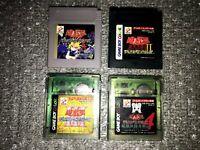 Game Boy Color Yugioh 1 2 3 4 Soft GB Lot 4 Nintendo Konami NTSC-J Japan used