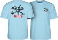 Powell Peralta Rat Bones Skateboard T Shirt Light Blue Xxl