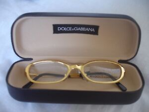 BRAND NEW IN CASE Dolce & Gabbana Ladies Gold Spectacles Frames Glasses