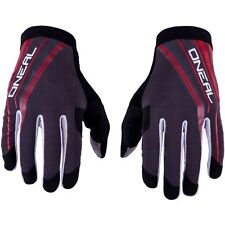 O'Neal AMX Lightweight Men's Cycling Full Finger Gloves Red Grey Size M/8.5