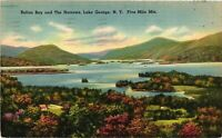 Vintage Postcard - 1950 Lake George Islands Of Narrows New York City NY #4272