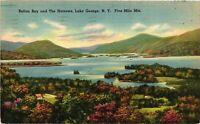 Vintage Postcard - 1950 Lake George Islands Of Narrows New York City NY #4272