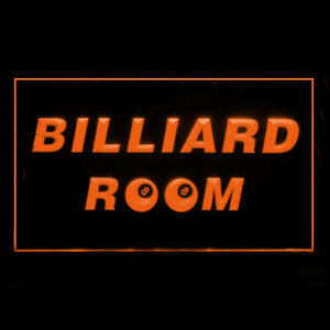 230118 8 ball Billiard Room Pool Stick Private Deluxe Display Neon Sign